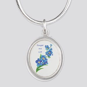 Forget-Me-Not Watercolor Flower & Quote Neckla