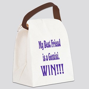 My Best Friend is a Gemini Canvas Lunch Bag