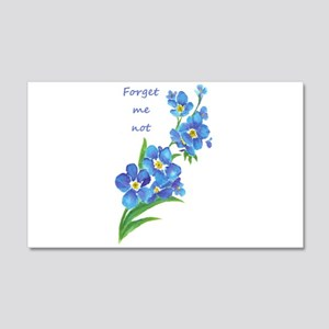 Forget-Me-Not Watercolor Flower & Quote Decal Wall