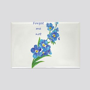 Forget-Me-Not Watercolor Flower & Quote Magnets