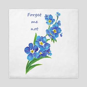 Forget-Me-Not Watercolor Flower & Quote Queen Duve