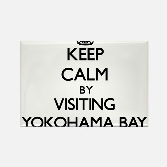 Keep calm by visiting Yokohama Bay Hawaii Magnets
