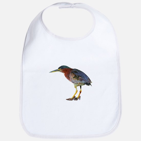 Green Heron Wearing Heels Bib