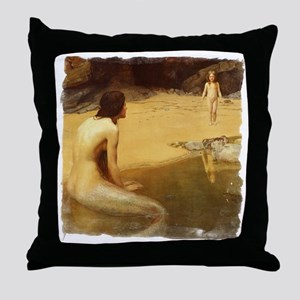 Land Baby by Collier Throw Pillow