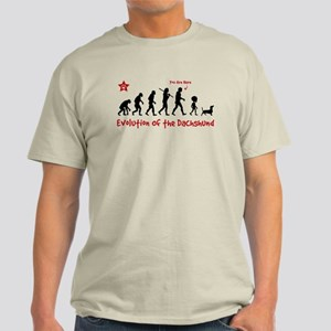 """Dachshund Evolution -""""You are Here"""" Light Tee"""