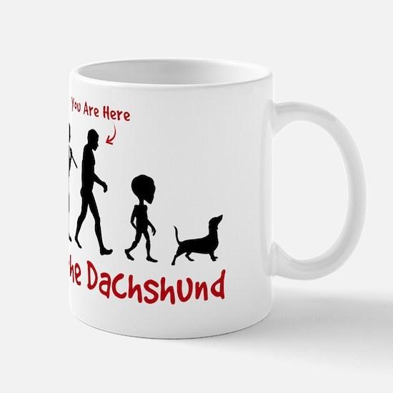 "Dachshund Evolution - ""You are Here"" Mug"