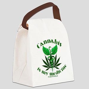 Cannabis is my medicine Canvas Lunch Bag