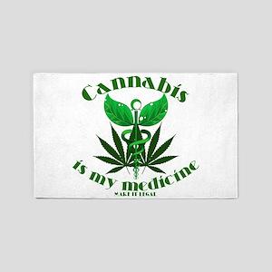 Cannabis is my medicine 3'x5' Area Rug