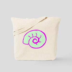 Green And Pink Sea Shell Tote Bag