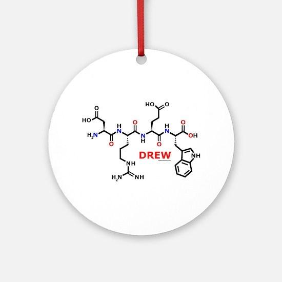Drew name molecule Ornament (Round)