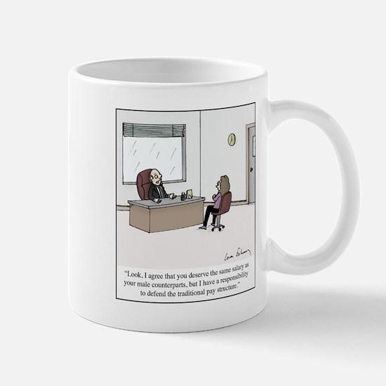 Equal Pay Excuse Small Mugs