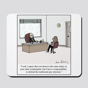 Equal Pay Excuse Mousepad