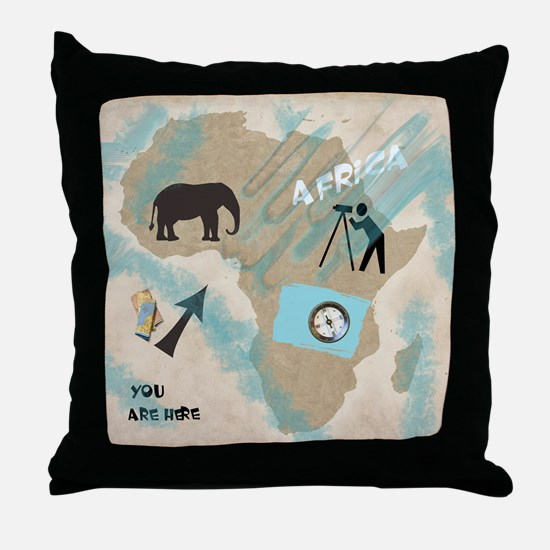 Trip to Africa Throw Pillow