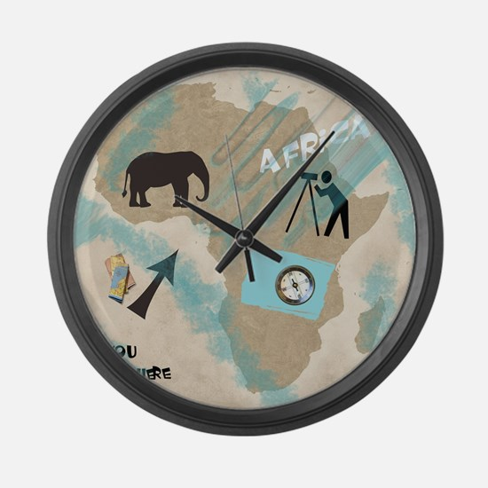 Trip to Africa Large Wall Clock