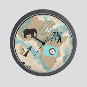 Trip to Africa Wall Clock