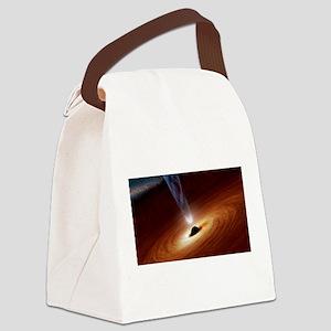 black Hole Canvas Lunch Bag