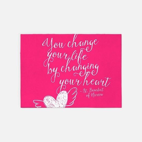 Change Your Life 5'x7'Area Rug