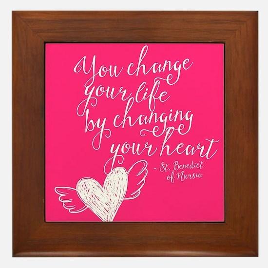 Change Your Life Framed Tile