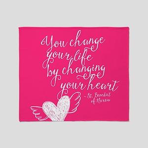 Change Your Life Throw Blanket