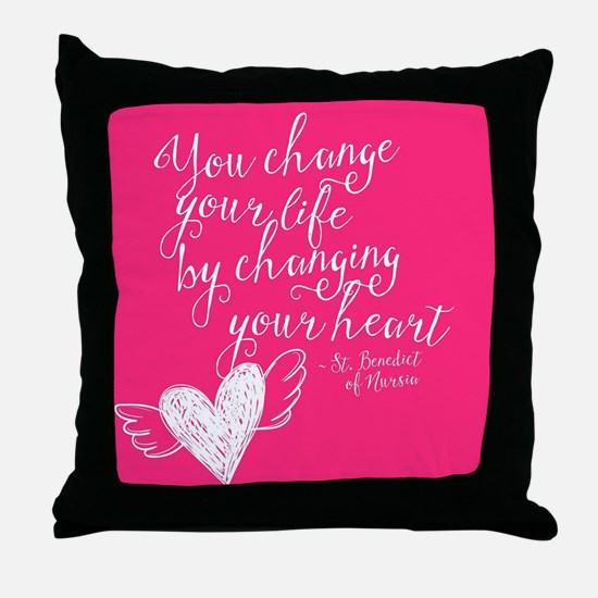 Change Your Life Throw Pillow