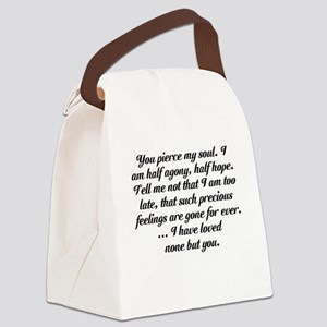 Jane Austen Persuasion Canvas Lunch Bag