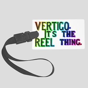 VERTIGO - It's the REEL thing. Large Luggage Tag