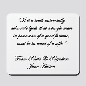 Jane Austen Quote Truth Mousepad