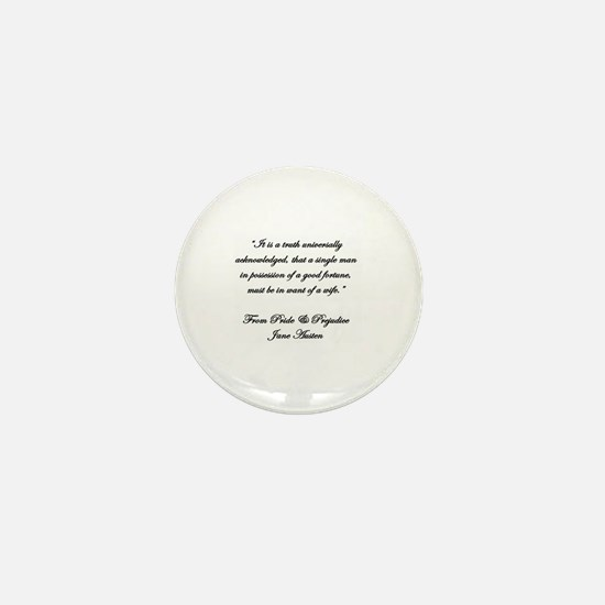 Jane Austen Quote Truth Mini Button