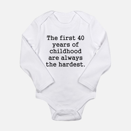 The First 40 Years Of Childhood Body Suit