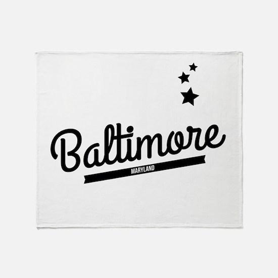 Retro Baltimore Logo Throw Blanket