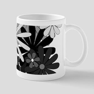 Black and White Flowers Mugs