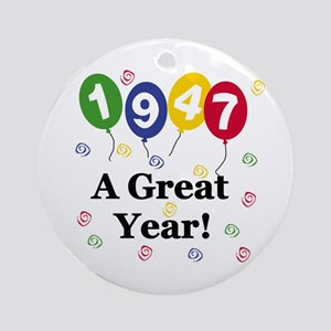 1947 A Great Year Ornament (Round)