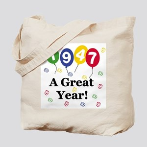 1947 A Great Year Tote Bag