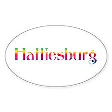 Hattiesburg Oval Sticker