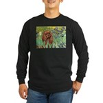 Irises & Ruby Cavalier Long Sleeve Dark T-Shirt