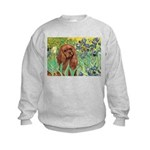 Irises & Ruby Cavalier Kids Sweatshirt