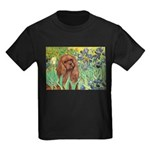 Irises & Ruby Cavalier Kids Dark T-Shirt