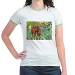 Irises & Ruby Cavalier Jr. Ringer T-Shirt