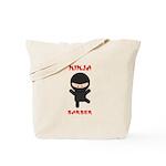 Ninja Barber Tote Bag