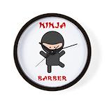 Ninja Barber Wall Clock