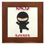 Ninja Barber Framed Tile
