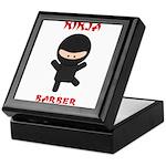 Ninja Barber Keepsake Box