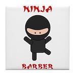 Ninja Barber Tile Coaster