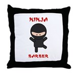 Ninja Barber Throw Pillow