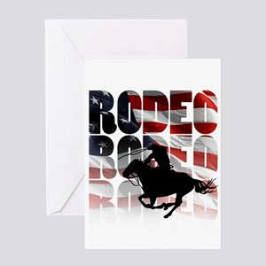 rodeo-44 Greeting Cards