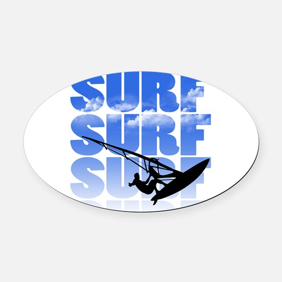 windsurfer Oval Car Magnet