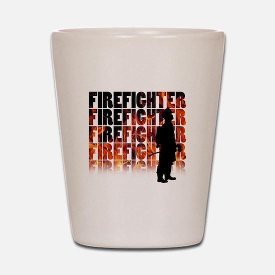 firefighter-097 Shot Glass