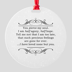 Persuasion, Jane Austen Round Ornament