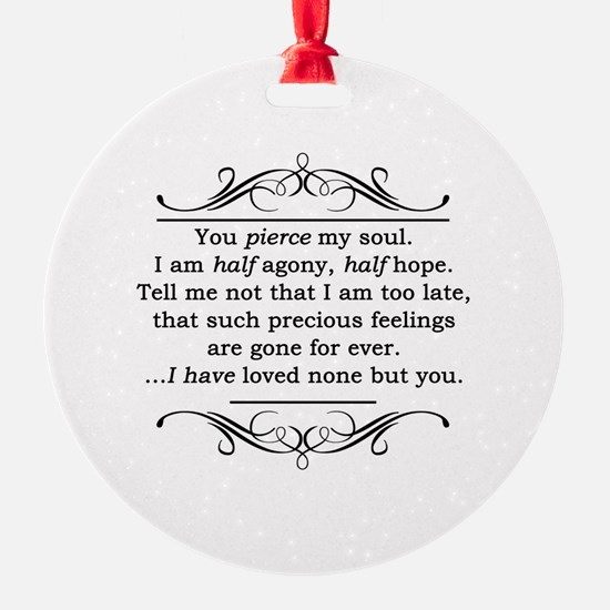 Persuasion, Jane Austen Ornament