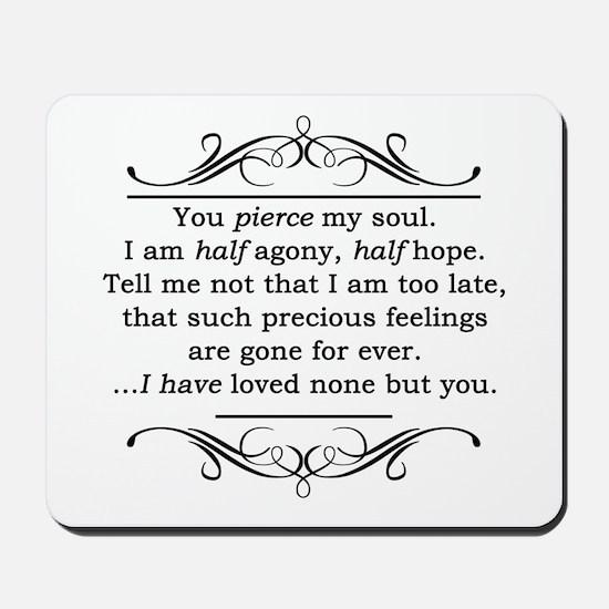Persuasion, Jane Austen Mousepad